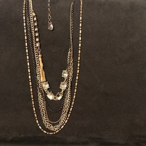American Eagle Outfitters chain tiered necklace